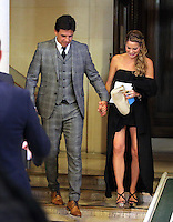 Pictured: Chris Coleman and wife Charlotte Jackson Thursday 20 October 2016<br />