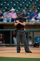 Umpire Matthew Brown during a Southern League game between the Chattanooga Lookouts and Birmingham Barons on May 1, 2019 at Regions Field in Birmingham, Alabama.  Chattanooga defeated Birmingham 5-0.  (Mike Janes/Four Seam Images)