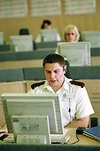 Civilian staff working in a call centre at Lloyd House, West Midlands Police Service HQ.