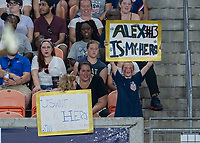 HOUSTON, TX - JUNE 13: Fans cheer during a game between Jamaica and USWNT at BBVA Stadium on June 13, 2021 in Houston, Texas.
