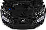 Car Stock 2019 Honda Passport EX-L 5 Door SUV Engine  high angle detail view