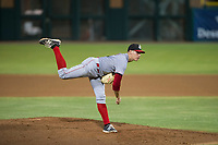 AZL Reds starting pitcher Jared Solomon (16) follows through on his delivery against the AZL Giants on August 12, 2017 at Scottsdale Stadium in Scottsdale, Arizona. AZL Giants defeated the AZL Reds 1-0. (Zachary Lucy/Four Seam Images)
