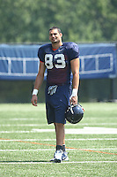 Virginia tight end Joe Torchia during open spring practice for the Virginia Cavaliers football team August 7, 2009 at the University of Virginia in Charlottesville, VA. Photo/Andrew Shurtleff
