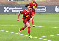 Chemsdine Talbi (20) of Belgium pictured in action during a soccer game between the national teams Under17 Youth teams of  Norway and Belgium on day 3 in the Qualifying round in group 3 on Tuesday 12 th of October 2020  in Tubize , Belgium . PHOTO SPORTPIX | DAVID CATRY