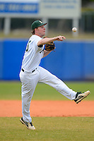 University of Alabama at Birmingham Blazers third baseman Tanner Bryant #18 throws to first during a game against the Dartmouth Big Green at Chain of Lakes Stadium on March 17, 2013 in Winter Haven, Florida.  Dartmouth defeated UAB 4-0.  (Mike Janes/Four Seam Images)