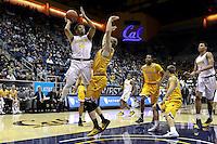 BERKELEY, CA - November 26, 2016: Cal Bears Men's Basketball team vs. the Wyoming Cowboys at Haas Pavilion. Final score, Cal Bears 71, Wyoming Cowboys 61.