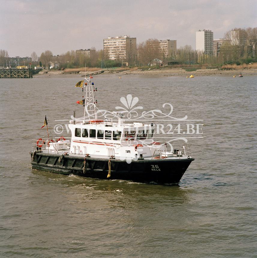 Maart 1993. Politieboot Nele.