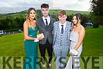 Mia Brennan, Ryan O'Neill, Ryan Casey and Shauna Collins at the Killarney Community College, St. Brendan's and St. Bridget's School debs in the Ballyroe Heights Hotel on Monday night.