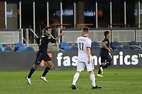 SAN JOSE, CA - OCTOBER 28: Chris Wondolowski #8 of the San Jose Earthquakes celebrates scoring during a game between Real Salt Lake and San Jose Earthquakes at Earthquakes Stadium on October 28, 2020 in San Jose, California.