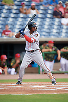 Florida Fire Frogs Cristian Pache (37) at bat during a game against the Clearwater Threshers on June 2, 2018 at Spectrum Field in Clearwater, Florida.  Clearwater defeated Florida 10-6.  (Mike Janes/Four Seam Images)