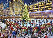 Marcello, CHRISTMAS LANDSCAPES, WEIHNACHTEN WINTERLANDSCHAFTEN, NAVIDAD PAISAJES DE INVIERNO, paintings+++++,ITMCXM2210AB,#xl# ,puzzle,puzzles