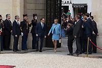 Paris (75)- Palais de l'Elysee- Ceremonie d installation de M. Emmanuel MACRON, PrÈsident de la RÈpublique, le dimanche 14 mai , Brigitte Macron a l'Elysee