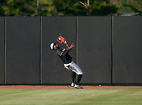 IMG Academy Ascenders outfielder Elijah Green (2) catches a fly ball during a game against the Jesuit Tigers on April 21, 2021 at IMG Academy in Bradenton, Florida.  (Mike Janes/Four Seam Images)