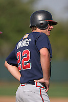 Atlanta Braves minor leaguer Jon-Mark Owings during Spring Training at Disney's Wide World of Sports on March 15, 2007 in Orlando, Florida.  (Mike Janes/Four Seam Images)