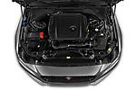 Car stock 2020 Jaguar XE S 4 Door Sedan engine high angle detail view