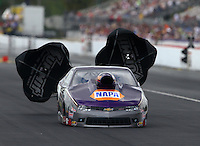 Mar 14, 2015; Gainesville, FL, USA; NHRA pro stock driver Vincent Nobile during qualifying for the Gatornationals at Auto Plus Raceway at Gainesville. Mandatory Credit: Mark J. Rebilas-