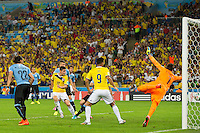 James Rodriguez of Columbia scores a goal to make it 2-0