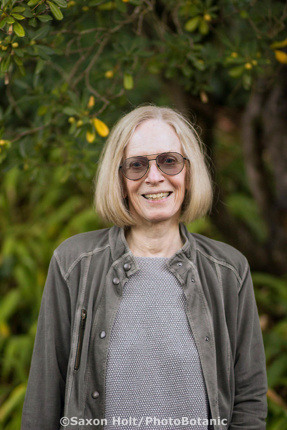 Nora Harlow, author, Gardening in Summer-Dry Climates, photo credit Sheena Mirafabi