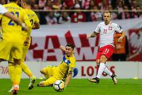 04.09.2017, Warszawa, pilka nozna, kwalifikacje do Mistrzostw Swiata 2018, Polska - Kazachstan, Kamil Grosicki (POL), Aslan Barabaev (KAZ), Poland - Kazakhstan, World Cup 2018 qualifier, football, fot. Tomasz Jastrzebowski / Foto Olimpik<br /><br /> POLAND OUT !!! *** Local Caption *** +++ POL out!! +++<br /> Contact: +49-40-22 63 02 60 , info@pixathlon.de