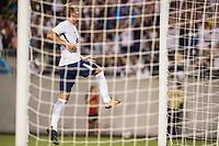 Orlando, FL - Saturday July 22, 2017: Harry Kane celebrates a goal during the International Champions Cup (ICC) match between the Tottenham Hotspurs and Paris Saint-Germain F.C. (PSG) at Camping World Stadium.