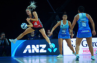 Jane Watson tries to keep the ball in during the ANZ Premiership netball final between Northern Mystics and Mainland Tactix at Spark Arena in Auckland, New Zealand on Sunday, 8 August 2021. Photo: Dave Lintott / lintottphoto.co.nz