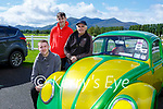 Jack Yeomans and Shane Lawson-Ahern Listowel with Frank Knightly Firies 1972 VW Beetle at the Killarney Valley Classic and Vintage car show in Killarney Racecourse on Sunday