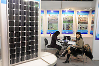 - Milan, Trade Fair of Robotics, High Tech and Green Energy; photovoltaic panels manufactured by Chinese companies<br /> <br /> .- Milano, Fiera della Robotica, High Tech ed Energie Verdi; pannelli fotovoltaici prodotti da aziende cinesi