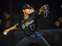 La Mirada pitcher Jared Jones (17) during a High School baseball game on February 19, 2020 in La Mirada, California.  (Terry Jack/Four Seam Images)