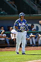 Samuel Ortiz (14) of the Ogden Raptors waits to bat against the Helena Brewers in Pioneer League action at Lindquist Field on July 16, 2016 in Ogden, Utah. Ogden defeated Helena 5-4. (Stephen Smith/Four Seam Images)