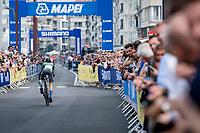 Khalil Amjad (PAK) off the start ramp<br /> <br /> Men Elite Individual Time Trial <br /> from Knokke-Heist to Bruges (43.3 km)<br /> <br /> UCI Road World Championships - Flanders Belgium 2021<br /> <br /> ©kramon