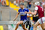 Cian Hussey, St. Brendans, in action against Evan Murphy, Causeway, during the County Senior hurling Semi-Final between St. Brendans and Causeway at Austin Stack park on Sunday.