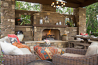 Gustafson Residence, Rancho Santa Fe, Detail of covered patio. Designed by Kelly Fore Dixon. Photographer, David Verdugo