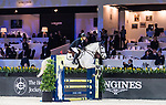 Justin Yeung of Hong Kong riding Clintorado competes in the JETS Challenge during the Longines Masters of Hong Kong at AsiaWorld-Expo on 10 February 2018, in Hong Kong, Hong Kong. Photo by Diego Gonzalez / Power Sport Images