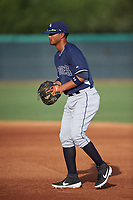 AZL Padres 2 first baseman Kelvin Alarcon (7) during an Arizona League game against the AZL White Sox on June 29, 2019 at Camelback Ranch in Glendale, Arizona. The AZL Padres 2 defeated the AZL White Sox 7-3. (Zachary Lucy/Four Seam Images)