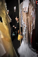 Backstage,Lebanese Fashion Designer  Abed Mahfouz featured at Rome Fashion Week,Fashion show. Presentation of S/S 2013.Italian Haute Couture collection, January 28, 2013