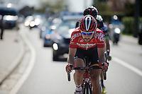 Thomas De Gendt (BEL/Lotto-Soudal) leads the breakaway<br /> <br /> 55th Brabantse Pijl 2015