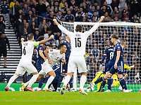 9th October 2021; Hampden Park, Glasgow, Scotland; FIFA World Cup football qualification, Scotland versus Israel; Eran Zahavi of Israel celebrates as he makes it 0-1 to Israel in the 5th minute from a direct free kick past keeper Gordon