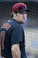 Lance Berkman of the Houston Astros before a 2002 MLB season game against the Los Angeles Dodgers at Dodger Stadium, in Los Angeles, California. (Larry Goren/Four Seam Images)