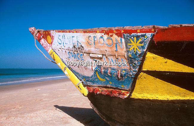 Colourful boat, Goa, India