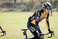 Defending champion Wout van Aert (BEL/Jumbo-Visma)<br /> <br /> 112th Milano-Sanremo 2021 (1.UWT)<br /> 1 day race from Milan to Sanremo (299km)<br /> <br /> ©kramon