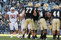 South Bend, IN - OCTOBER 4:  Defensive tackle Sione Fua #92 of the Stanford Cardinal during Stanford's 28-21 loss against the Notre Dame Fighting Irish on October 4, 2008 at Notre Dame Stadium in South Bend, Indiana.