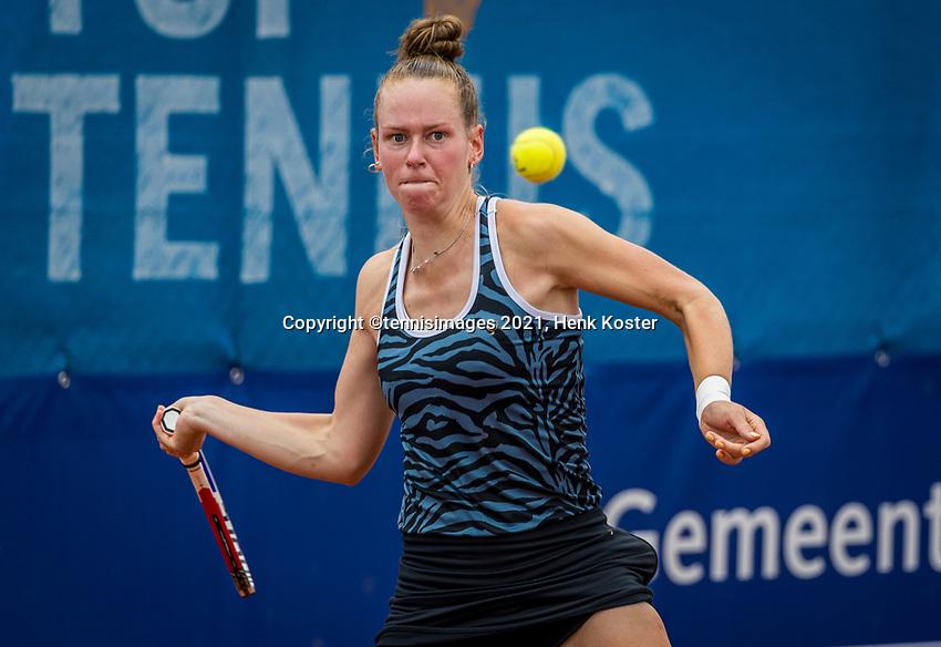 Amstelveen, Netherlands, 5  Juli, 2021, National Tennis Center, NTC, Amstelveen Womans Open,  Stephanie Judith Visscher (NED<br /> Photo: Henk Koster/tennisimages.com