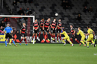 26th May 2021; Bankwest Stadium, Parramatta, New South Wales, Australia; A League Football, Western Sydney Wanderers versus Wellington Phoenix; the Wanderers wall defends a direct free kick successfully