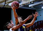 Kam Man Chun #21 of Winling Basketball Club tries to score next to Gonzalez Lau #10 of Eagle Basketball Team during the Hong Kong Basketball League game between Eagle and Winling at Southorn Stadium on May 4, 2018 in Hong Kong. Photo by Yu Chun Christopher Wong / Power Sport Images