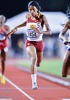 May 25, 2013: Ashley Liverpool #1454 of USC takes third place in heat three of  4x400 relay quarterfinal during NCAA Outdoor Track & Field Championships West Preliminary at Mike A. Myers Stadium in Austin, TX.