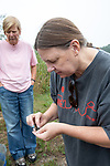 Kelly Sattman Checking Failed Diamondback Terrapin Egg