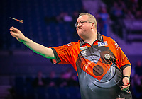 12th March 2020; M and S Bank Arena, Liverpool, Merseyside, England; Professional Darts Corporation, Unibet Premier League Liverpool; Stephen Bunting throws a dart