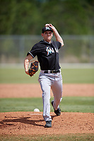 Miami Marlins pitcher Dylan Lee (64) delivers a pitch during a minor league Spring Training game against the New York Mets on March 26, 2017 at the Roger Dean Stadium Complex in Jupiter, Florida.  (Mike Janes/Four Seam Images)