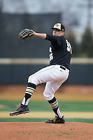 Wake Forest Demon Deacons relief pitcher Andrew Culp (55) in action against the Towson Tigers at Wake Forest Baseball Park on March 1, 2015 in Winston-Salem, North Carolina.  The Demon Deacons defeated the Tigers 15-8.  (Brian Westerholt/Four Seam Images)