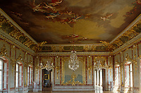This sumptuous throne room features the work of master gilder Johann Endres framing the frescoes by Francesco Martini and Carlo Zucchi